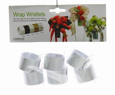 Poignet de corsage blanc cliquable (oasis wrap wristlet)