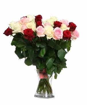 Romantic Roses Bouquet with big heads