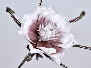 Foam flower aubergine Ø 20 cm