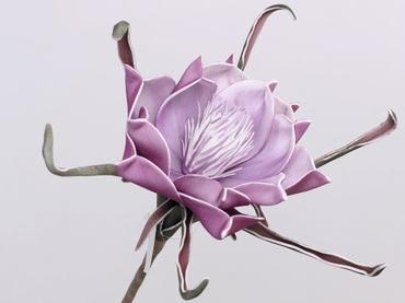 Foam flower purple Ø 20 cm