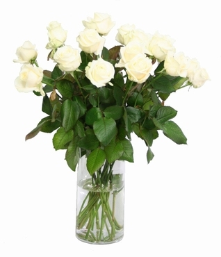 Bouquet cream white Roses with big heads 60 cm