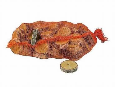 Birch disc round natural 10 cm per bag