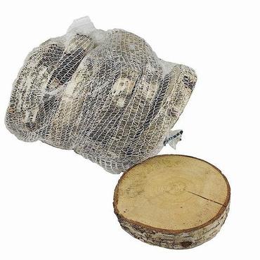 Berkenschijf rond naturel 20 cm per zak