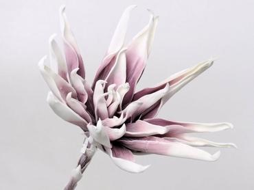 Foam flower white lilac Ø 35 cm