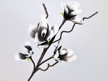 Foam blossom branch white anthracite Ø 17 cm