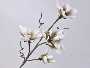 Foam blossom branch white grey Ø 17 cm