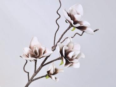 Foam blossom branch white mocca Ø 17 cm