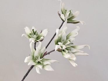Foam blossom branch white green Ø 18 cm