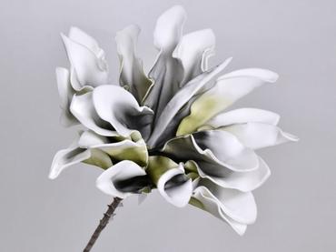 Foam flower Dracena white anthracite Ø 24 cm