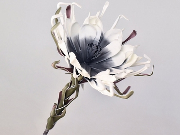 Foam flower white anthracite Ø 35 cm