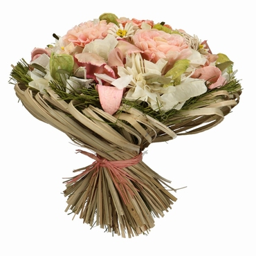 Droogbloemen boeket Lena peach zalm roze groot