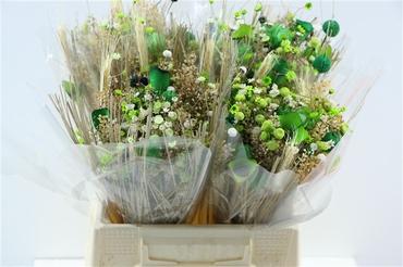 Bouquet séché Fantasia vert