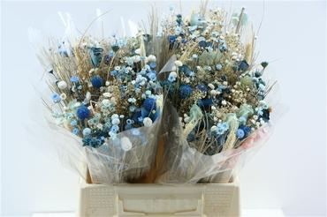 Bouquet séché Fantasia bleu clair