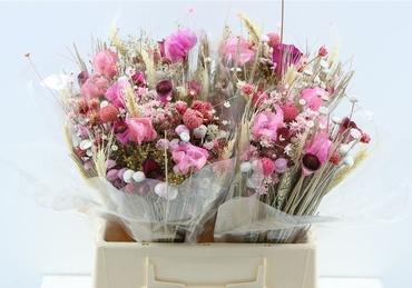 Bouquet séché Fantasia rose