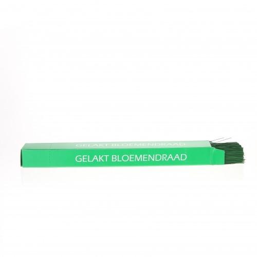 Bloemendraad gelakt groen 1,2 mm