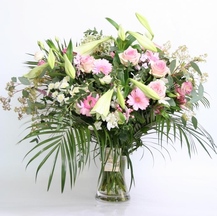 Boeket Tendresse roze wit