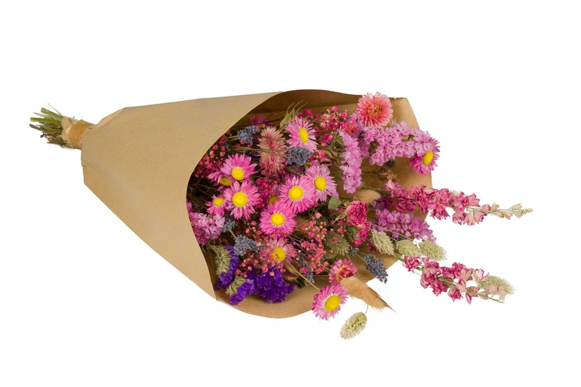 Dried flower bouquet  Field L pink