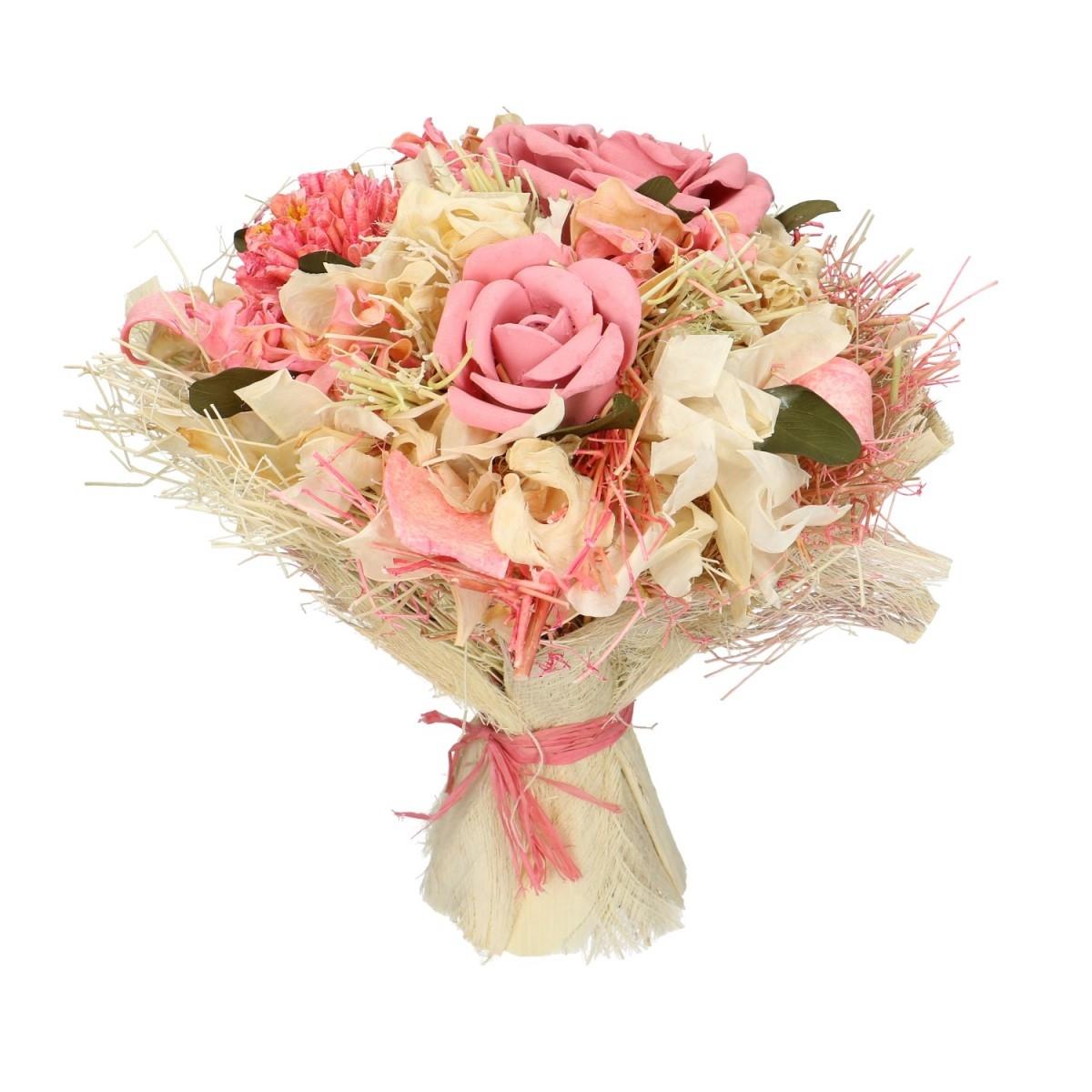 Dried flower bouquet Lena pink