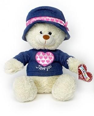 Teddy bear with denim and heart