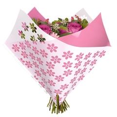 Bouquet sleeve Flowers pink