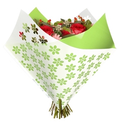 Bouquet sleeve Flowers lime green