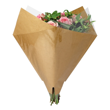 Bouquet sleeve Paper brown