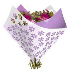 Bouquet sleeve Flowers lavender