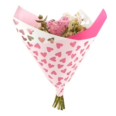 Bouquet sleeve Hearts pink